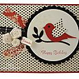 Happy Birthday wishes red  bird_800