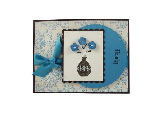 Thanks card in blue_800